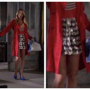 Elizabeth & James sequin mini skirt S Gossip Girl